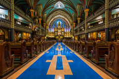 Interior of Notre-Dame de Montreal Royalty Free Stock Photography