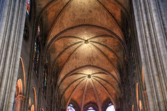 The interior of the Notre Dame de Paris, France Royalty Free Stock Image