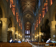 The interior of the Notre Dame de Paris, France Royalty Free Stock Photography