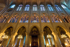 Interior of the Notre Dame de Paris Stock Photo
