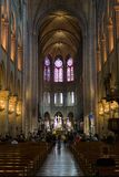 Interior of Notre Dame De Paris Stock Images