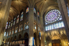 Interior of the Notre Dame de Paris, France Stock Images