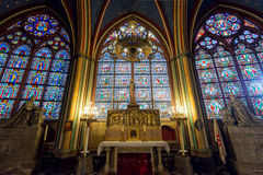 Interior of the Notre Dame de Paris, France Stock Image