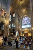 Interior of the Notre Dame de Paris, France Stock Photos