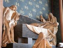 Interior of the Notre Dame de Paris Stock Photo