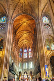 Interior of Notre Dame de Paris Stock Image