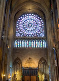 Interior of the Notre Dame de Paris Royalty Free Stock Photos
