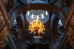 Interior novo de Athos, a beleza da arquitetura imagens de stock royalty free