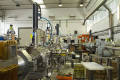 Interior of nuclear laboratory-ION accelerator Stock Photos