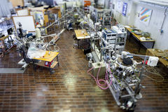Interior of nuclear laboratory-ION accelerator -miniature effect Royalty Free Stock Photos