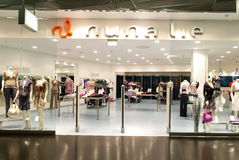 Interior of Nuna Lie fashion clothes store Stock Photos