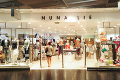 Interior of Nuna Lie fashion clothes store Royalty Free Stock Images