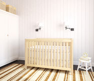 Interior of nursery. Royalty Free Stock Photo
