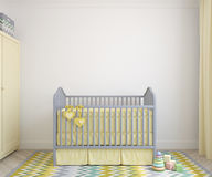 Interior of nursery. 3d render. Stock Photography