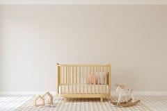 Interior of nursery. 3d render. Stock Photo