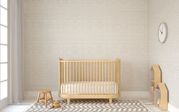 Interior of nursery. 3d render. Stock Images
