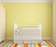 Interior of nursery. 3d rendering. Royalty Free Stock Photography