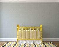 Interior of nursery. Stock Image