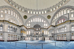 Interior of Nuruosmaniye Mosque in Istanbul Royalty Free Stock Photography