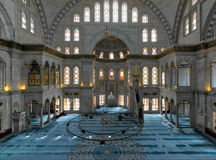 Interior of Nuruosmaniye Mosque, Shemberlitash, Fatih, Istanbul, Turkey Royalty Free Stock Photos