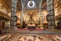 Interior o Siena Cathedral Duomo di Siena, medieval church, It Stock Photography