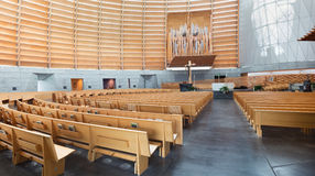 Interior of Oakland Cathedral of Christ the Light Stock Images