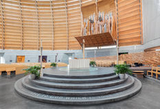 Interior of Oakland Cathedral of Christ the Light Stock Photos