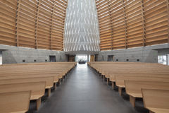 Interior of Oakland Cathedral of Christ the Light. OAKLAND, CALIFORNIA - NOV 5, 2015: The Cathedral of Christ the Light, also called Oakland Cathedral, is the royalty free stock photos