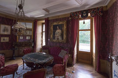 Interior of Oberhofen Castle, Switzerland Royalty Free Stock Photo