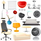 Interior object big set Royalty Free Stock Images