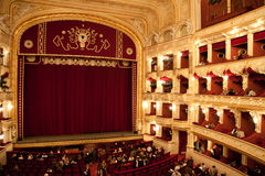 Interior of Odessa opera and ballet house Royalty Free Stock Photography