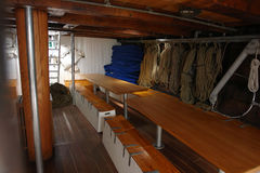 Interior Of A Classical Wooden Ship Royalty Free Stock Image