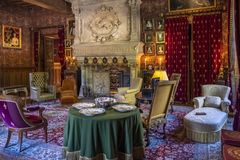 Interior Of A Room In The Chateau Azay-le-Rideau, Loire Valley, France. Royalty Free Stock Images