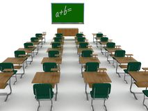 Interior Of A School Class. Stock Images