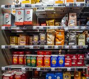Free Interior Of Albert Heijn Store Rows Of Coffee Tea Products Royalty Free Stock Photos - 157485908