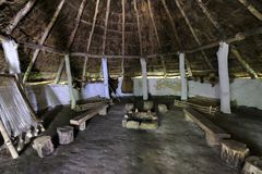 Free Interior Of An Iron Age Roundhouse Reconstruction At The Ryedale Open Museum, UK Royalty Free Stock Photography - 168604487