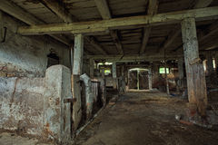 Interior Of An Old, Decaying Barn. Royalty Free Stock Photography