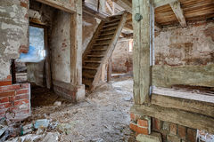 Interior Of An Old, Decaying Barn Royalty Free Stock Images