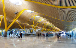 Interior Of Barajas Airport In Madrid, Spain Stock Photos