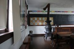 Interior Of Class Room Of Amish School Royalty Free Stock Images