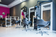 Free Interior Of Empty Modern Hair And Beauty Salon Royalty Free Stock Images - 51874829