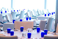 Interior Of Fine Luxurious Dining Room In Restaurant Stock Photo
