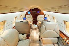 Free Interior Of Jet Airplane Stock Photography - 8390442