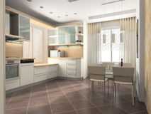 Free Interior Of Kitchen Royalty Free Stock Images - 12865989