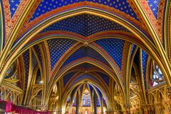 Free Interior Of Lower Chapel Of Sainte-Chapelle In Paris, France Stock Photo - 183107390
