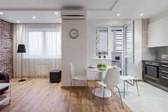 Free Interior Of Modern Apartment In Scandinavian Style With Kitchen Stock Photo - 68311400