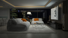 Free Interior Of Modern Design Room 3D Rendering Royalty Free Stock Images - 77089439