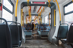 Free Interior Of Modern High-speed Tram In Moscow Stock Photo - 62956630