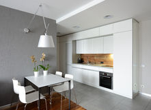 Interior Of Modern Kitchen. Royalty Free Stock Photos