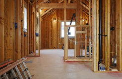 Interior Of New Home Construction Stock Photo
